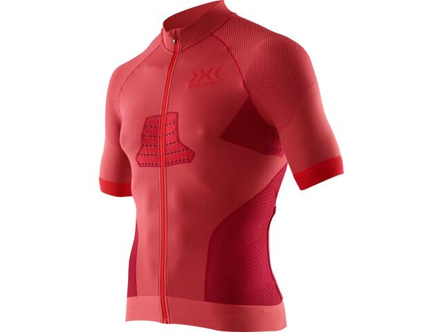 X-Bionic Race EVO Biking Jersey SS Men, dark red/red